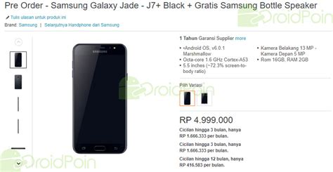 Harga Samsung J7 Yang Murah harga samsung galaxy j7 di indonesia droidpoin