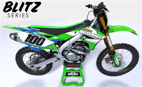 motocross bike graphics kawasaki blitz semi custom motocross graphics bikegraphix