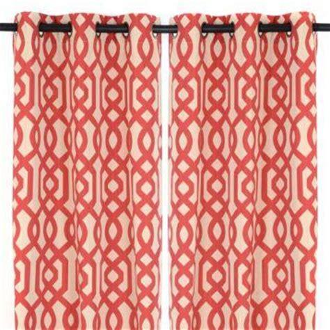red trellis curtains red lattice print gatehill curtain panels