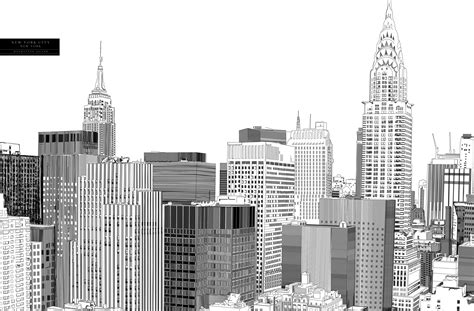 Sketches New York by New York Skyline Drawing Skyline Drawing