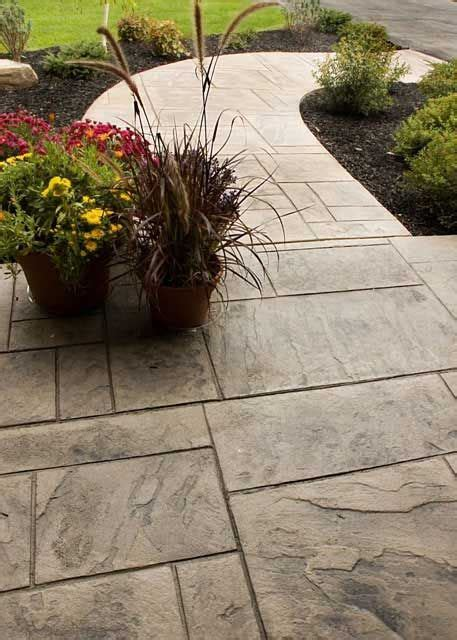 stamped concrete walkway ideas  home call