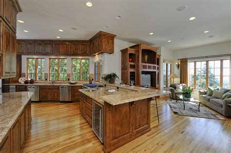 cool kitchen family room designs google search living