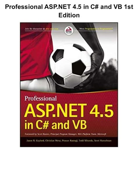 Professional Asp Net 4 In C And Vb professional asp net 4 5 in c and vb 1st edition pdf