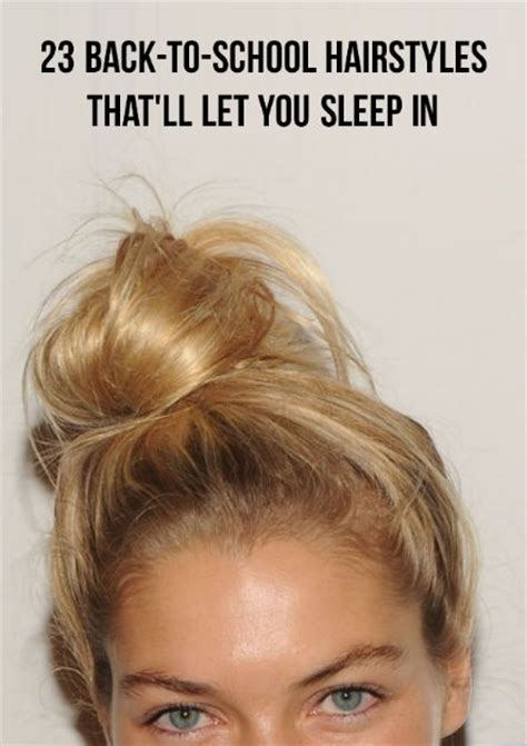 sleep in hairstyles for short hair 65 best lazy girl hairstyles images on pinterest lazy