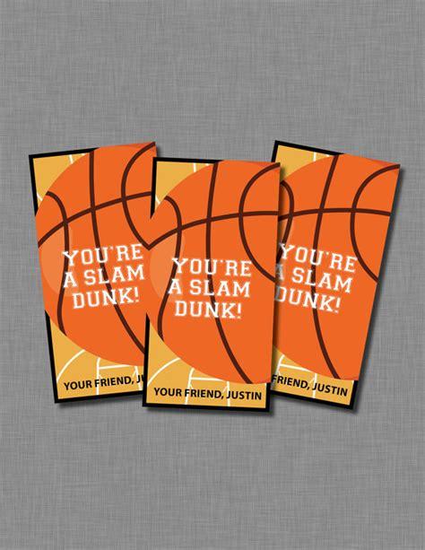 basketball valentines basketball valentines cards boy printable customized
