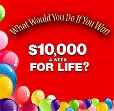 Weekly Sweepstakes - pch 10 000 a week for life sweepstakes