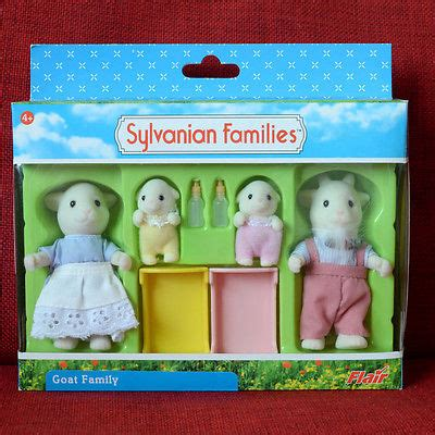 Sylvanian Families Original 5185 Goat Family new sylvanian families calico critters monkey family fs 23 what s it worth