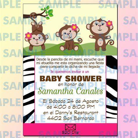 baby shower de dinero invitaciones baby shower changuitos baby shower changos