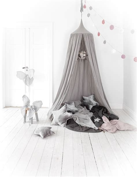 Grey Canopy Tent Leo Numero 74 Cotton Canopy Silver Grey
