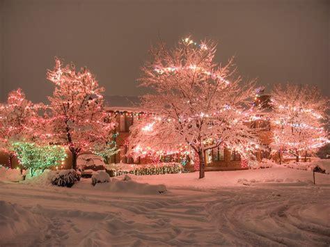 christmas christmas lights house lights pretty image