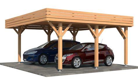 carport größe carport bois toit plat en kit iberis 2 voiture abri toit