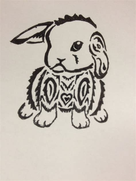 rabbit tribal tattoo tribal rabbit