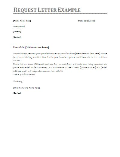 request letter samples printable ms word templates