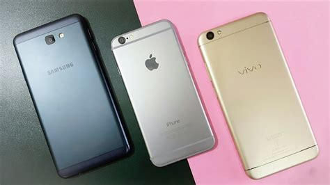 vivo v5 vs iphone 6 vs j7 prime comparison technical