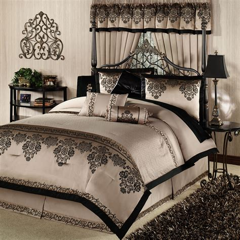 bedroom michael amini bedding king luxury comforter