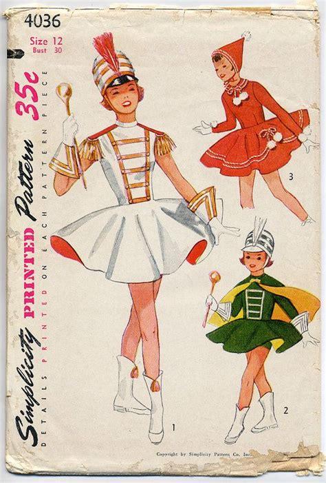 vintage majorette pattern vintage 1950s teen drum majorette skating dance costume