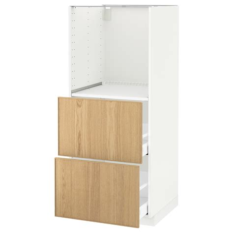 ikea oak kitchen cabinets metod maximera high cabinet w 2 drawers for oven white