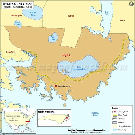 hyde county map north carolina