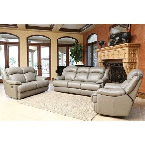 living room sets clarence 3 piece leather set clarence 3 piece leather set cx 6118 gry 3 2 1