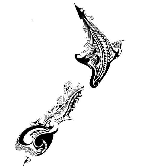 nz fern tattoo designs new zealand map maori design search s