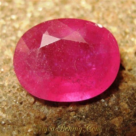 Merah Oval Cutting jual batu permata ruby warna merah bentuk oval cut 4 18 carat