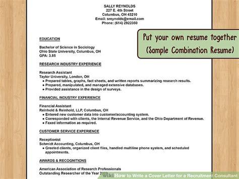 recruitment consultant cover letter no experience how to write a cover letter for a recruitment consultant