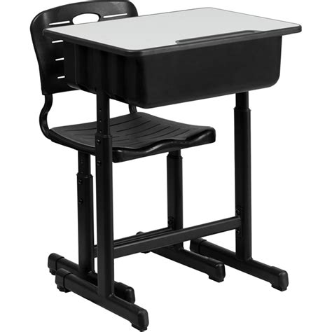 Adjustable Student Desk Adjustable Height Student Desk And Chair With Black