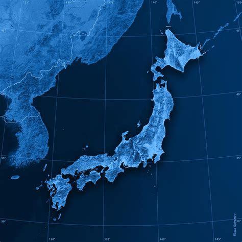 digital japan japan topographic map digital by frank ramspott