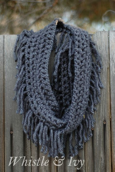 fringe pattern make a simple chunky fringe crochet scarf skip to my lou