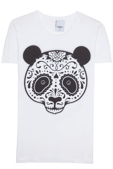 T Shirt Panda Black Metal Putih to the black panda t shirt white 365ist