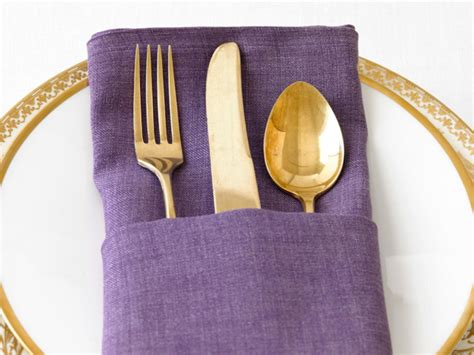 How To Fold A Paper Napkin With Silverware - how to make a napkin fold fn dish the
