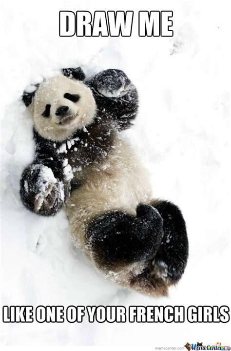 Cute Panda Memes - cute panda in snow by pana90 meme center