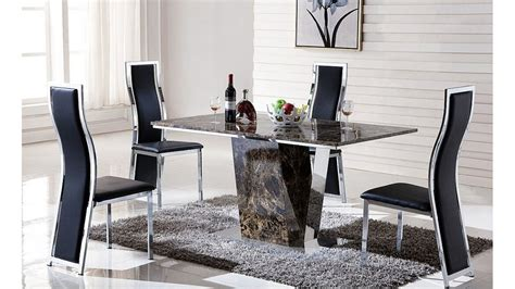 juego de comedor  sillas  mesa  base acero