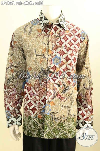 Baju Kodok Buat Cowok model baju batik premium buat pria gemuk sekali busana batik mewah lengan panjang cocok