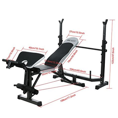 weight bench with preacher ancheer adjustable olympic weight bench with preacher curl