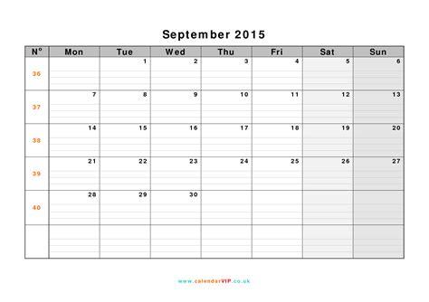 Calendar 2015 September Uk September 2015 Calendar Free Monthly Calendar Templates