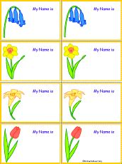 plant tag template flower name tags to print flowers at enchantedlearning