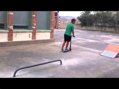 barandilla para grindar como grindar barandilla scooter youtube