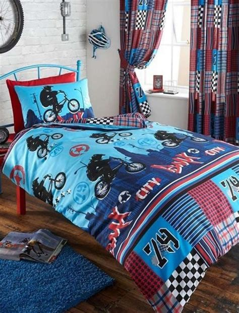 double duvet covers and matching curtains buy bmx double bedding and matching curtains 54s from our
