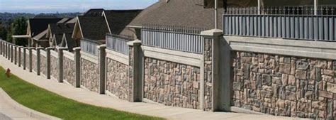security fence panels stonetree 174 concrete fence systems