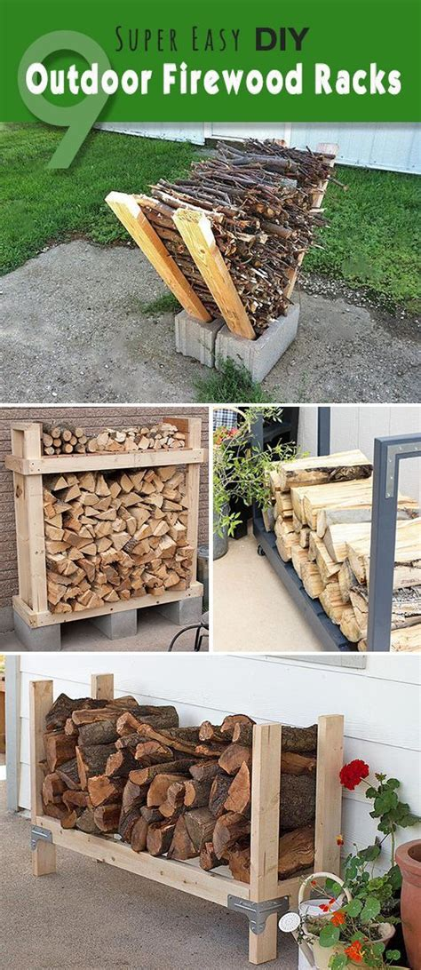 diy firewood log rack 9 easy diy outdoor firewood racks outdoor firewood