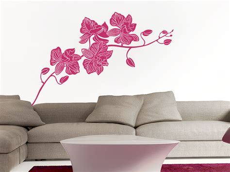 Orchidee Im Schlafzimmer by Wandtattoo Orchidee Pflanze Wandtattoo De