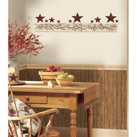 kitchen wall decor stickers new primitive arch wall decals country kitchen berries stickers decor ebay