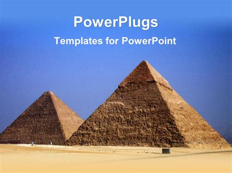 powerpoint themes egypt powerpoint template the pyramids of the egypt with sky in