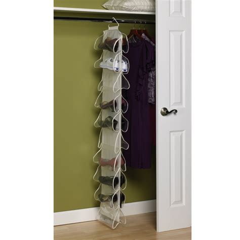 Closet Hanging Rack by Canvas 20 Pocket Hanging Shoe Rack In Hanging Shoe Organizers