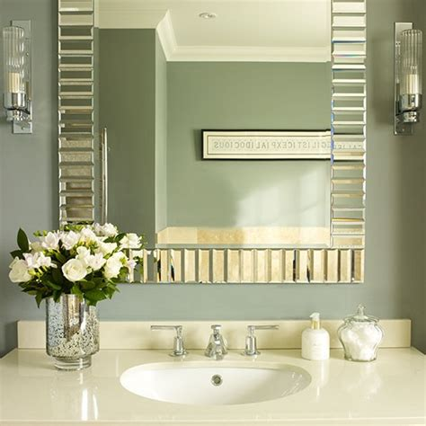 bathroom mirror and vanity unit