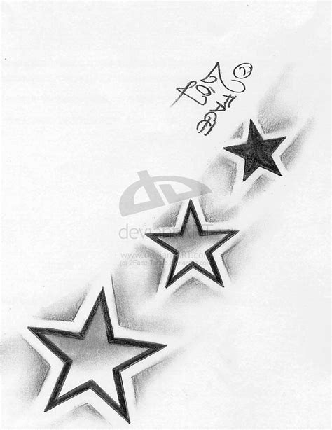 shaded stars tattoo designs