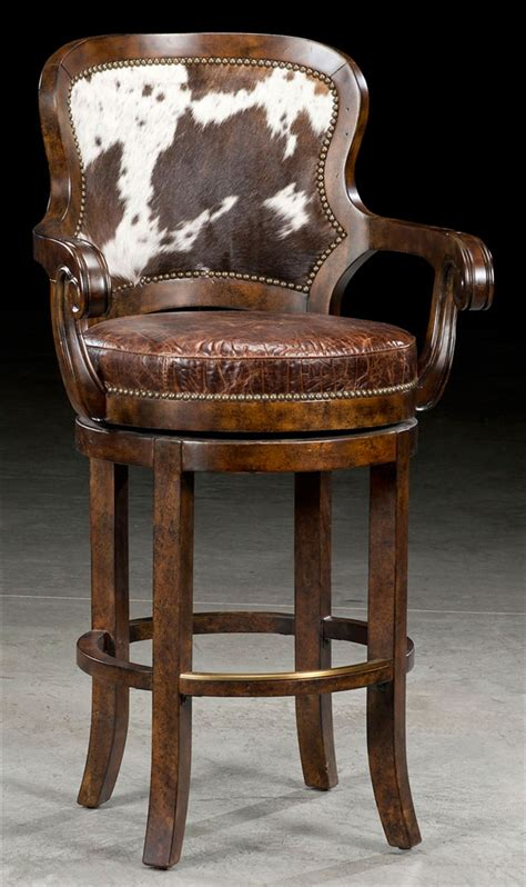 Stunning Cowhide Bar Stools by Cowhide Furniture Amberyin Decors Stunning Cowhide Bar