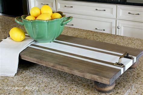 diy wooden diy ticking stripe wooden server tray americana decor