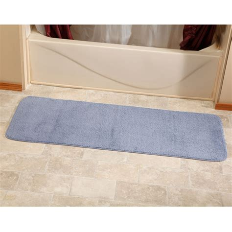 bathroom runners mats bathroom runner rugs 54 quot microfiber plush bathroom